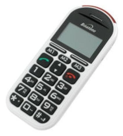 Telefono cellulare con telesoccorso gsm 200 binatone for Mobile telefono