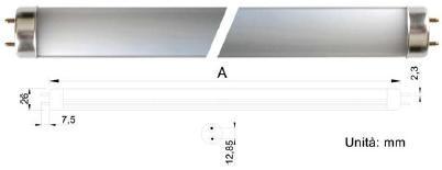 5943075 TUBO A LED TRASPARENTE SERIE T8 (Ø26mm) - 230Vca 4000°K 1198mm